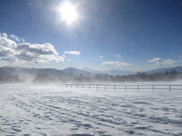 清里 雪景色