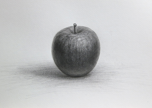 鉛筆デッサン りんご