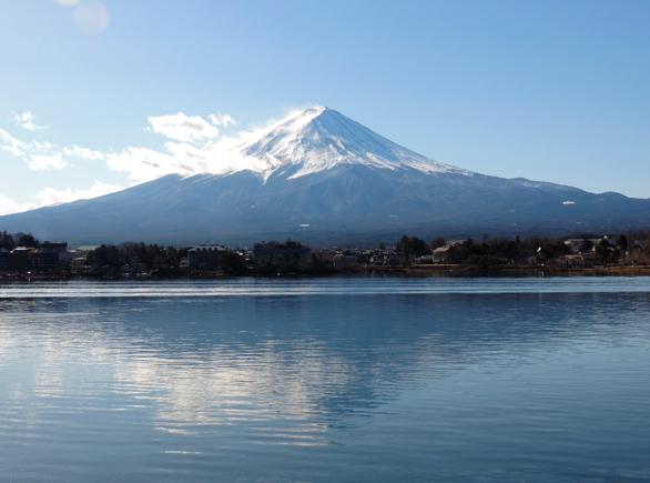 富士山 ズーム 河口湖