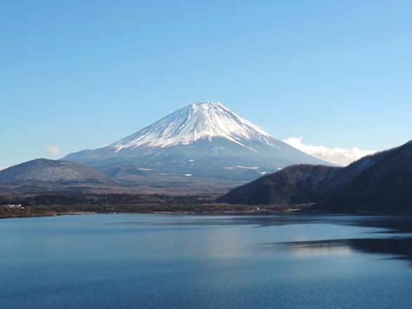 本栖湖 富士山 お札と同じ構図