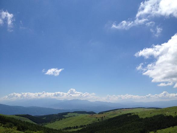霧ヶ峰霧ヶ峰スキー場 夏 上からの景色