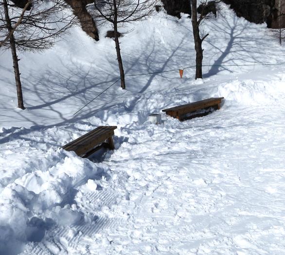 サンメドウズ清里スキー場 ベンチ