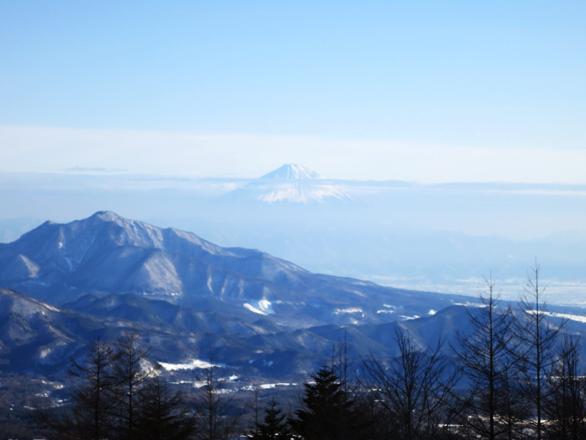 サンメドウズ清里スキー場 遠くに富士山