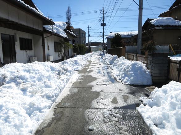 雪かきしたあと