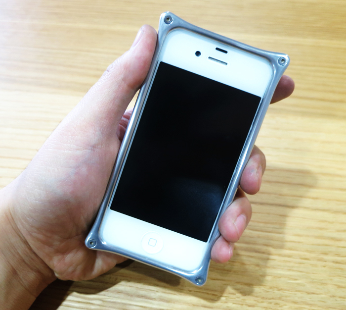 iPhone4s アルミバンパー改造 完成