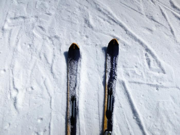 シャーベット状の雪質
