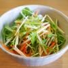 【簡単料理】水菜のサラダ:少しでも野菜を多く摂るために
