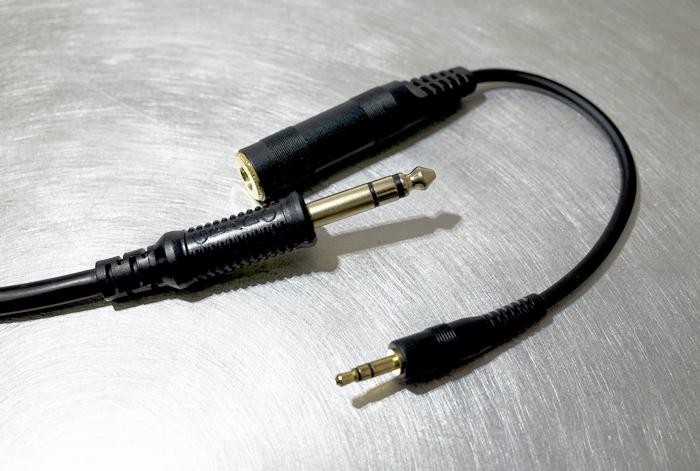 GRADO SR325isのプラグとゼンハイザー変換ケーブル