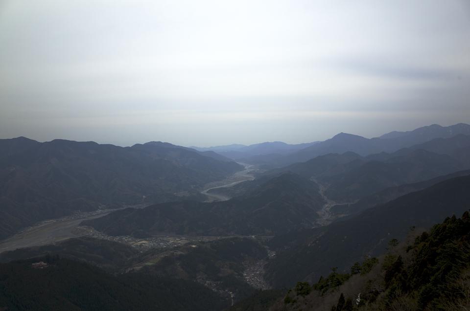 身延山展望台からの景色