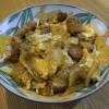 竜田揚げ風?【豚肉の卵とじ丼】カツ丼よりも少しヘルシーだけど同じくらい美味い!