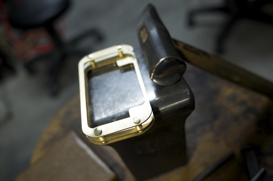 HA-11×iPod用金具 制作途中