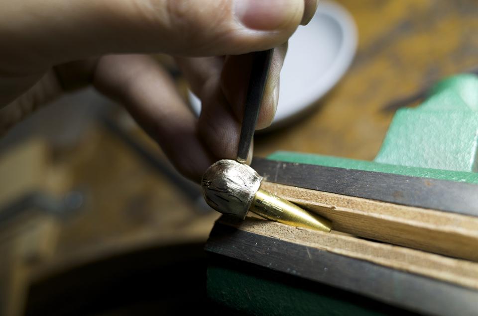 真鍮製ツマミ 加工