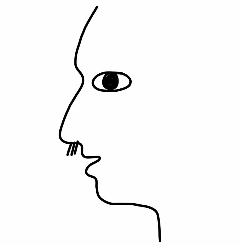 鼻毛が出ている人