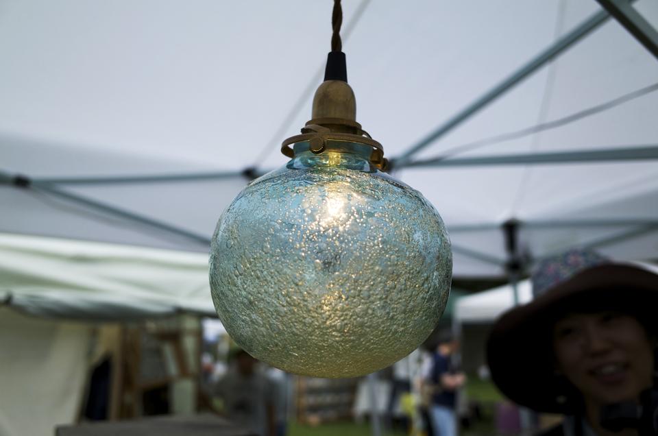 2014年八ヶ岳クラフト市 ガラス製ペンダントライト
