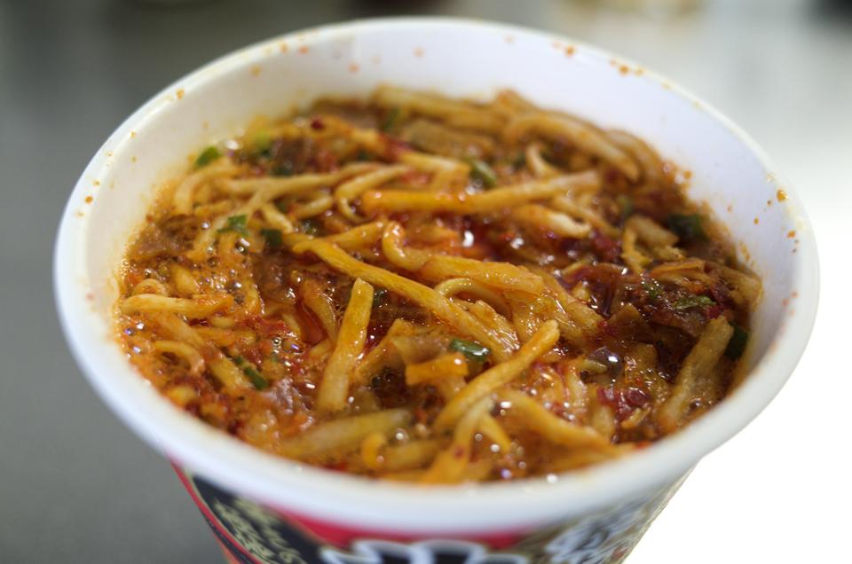 蒙古タンメン中本 北極ラーメン カップ麺 5分経った
