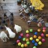 清水高原アートフェスティバルの準備:作品を全部出して広げてみた