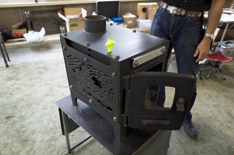 2014年 清水高原アートピクニック 薪ストーブ