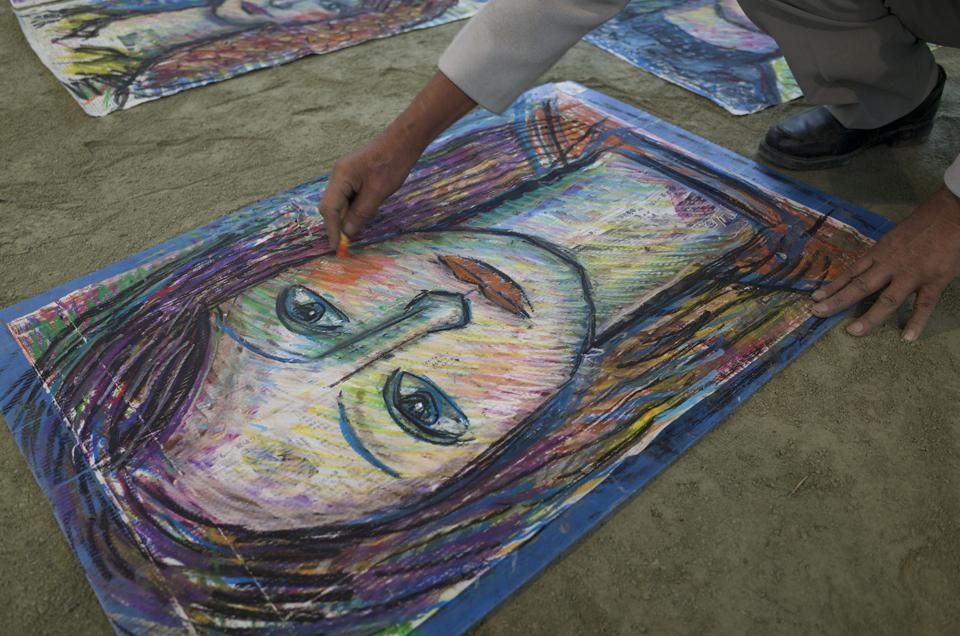2014年 清水高原アートピクニック ライブペインティング