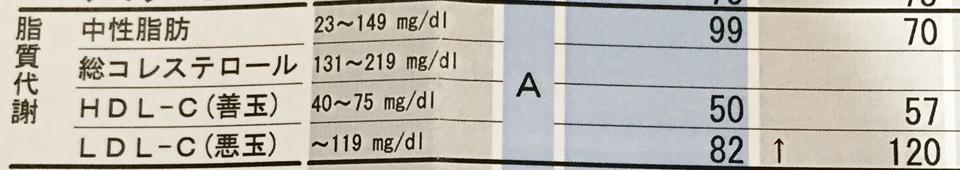 中性脂肪 コレステロール