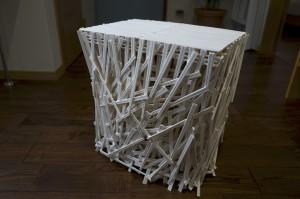 割り箸の椅子