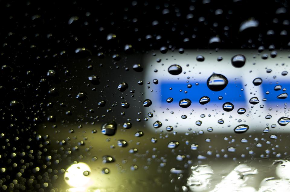 ガラスに付いた水滴