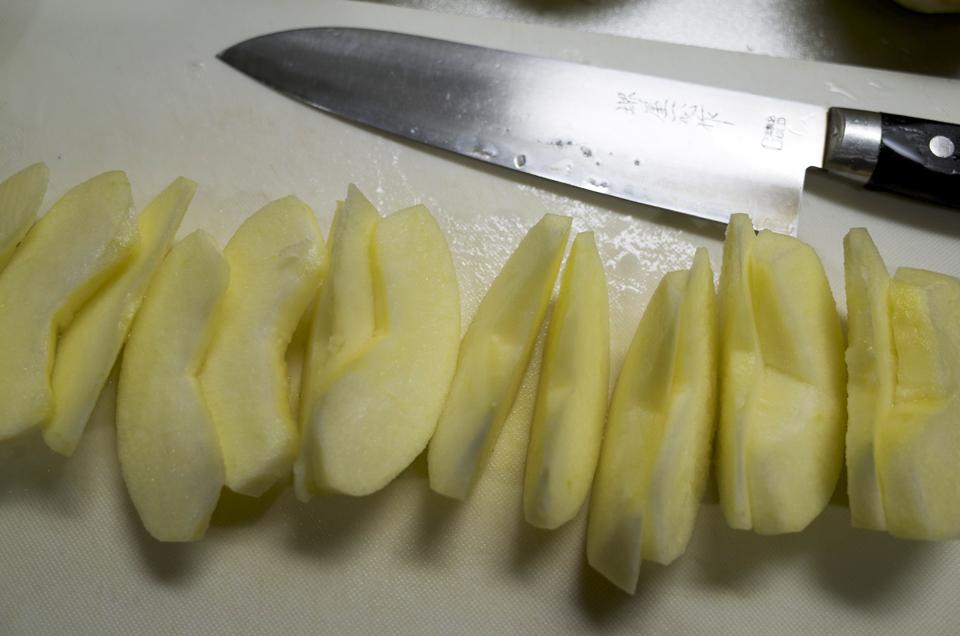 煮リンゴ 作り途中