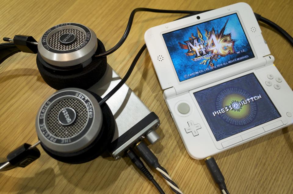 3DSをポタアン&ヘッドホンでプレイ