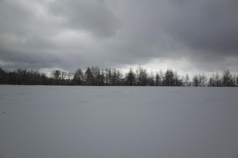 雪に覆われた駐車場