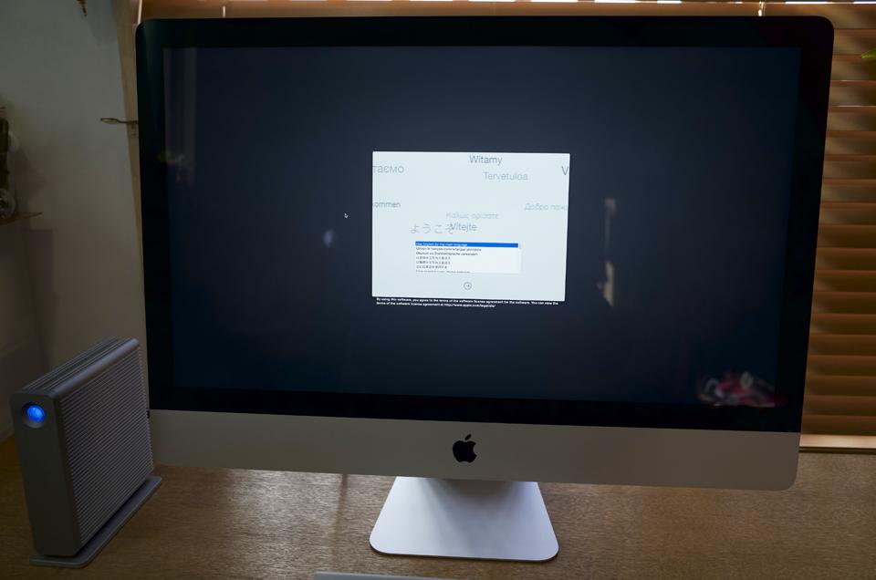 iMacを起動する