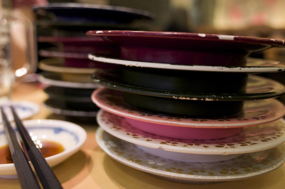 回転寿司の皿