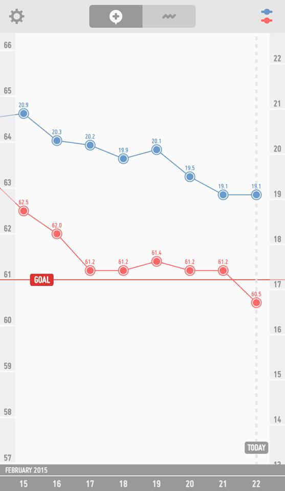 ダイエットのグラフ