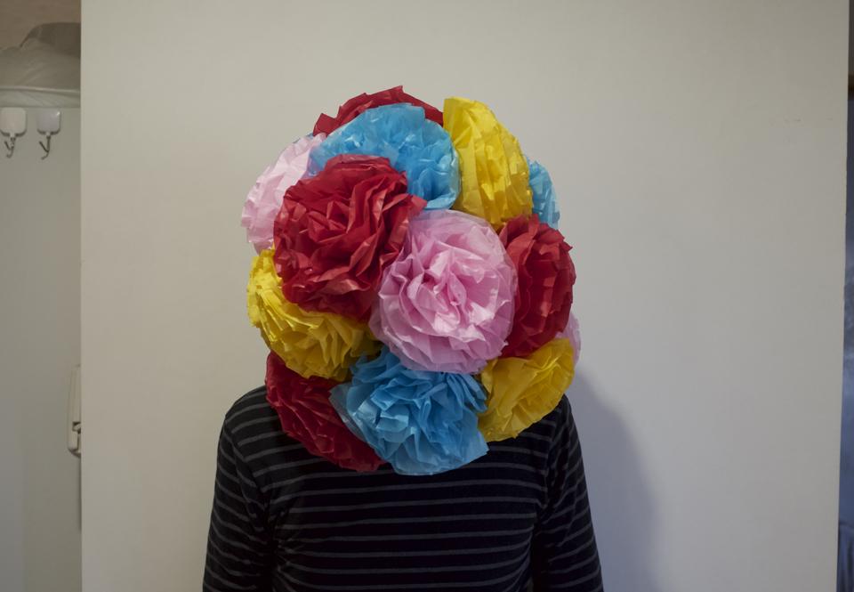 「鼻のための花」を装着