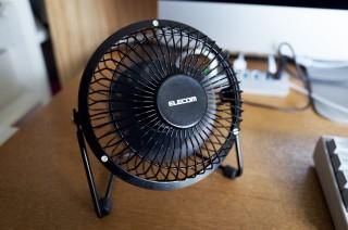 USBファンが使える!夏はMacの熱との戦いだ!【ELECOM FAN-U30BK】
