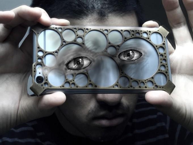 iPhoneに描かれた絵