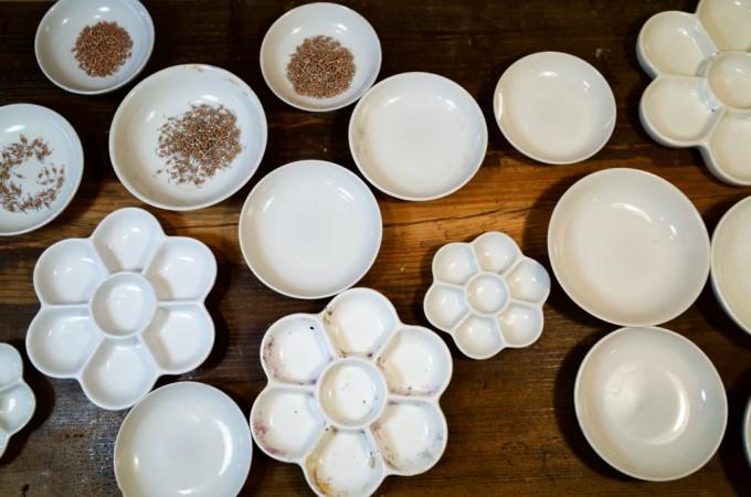 たくさんの絵皿