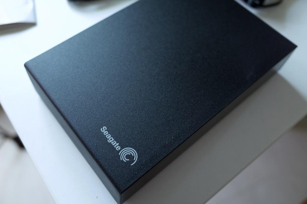 Seagateの外付けハードディスク