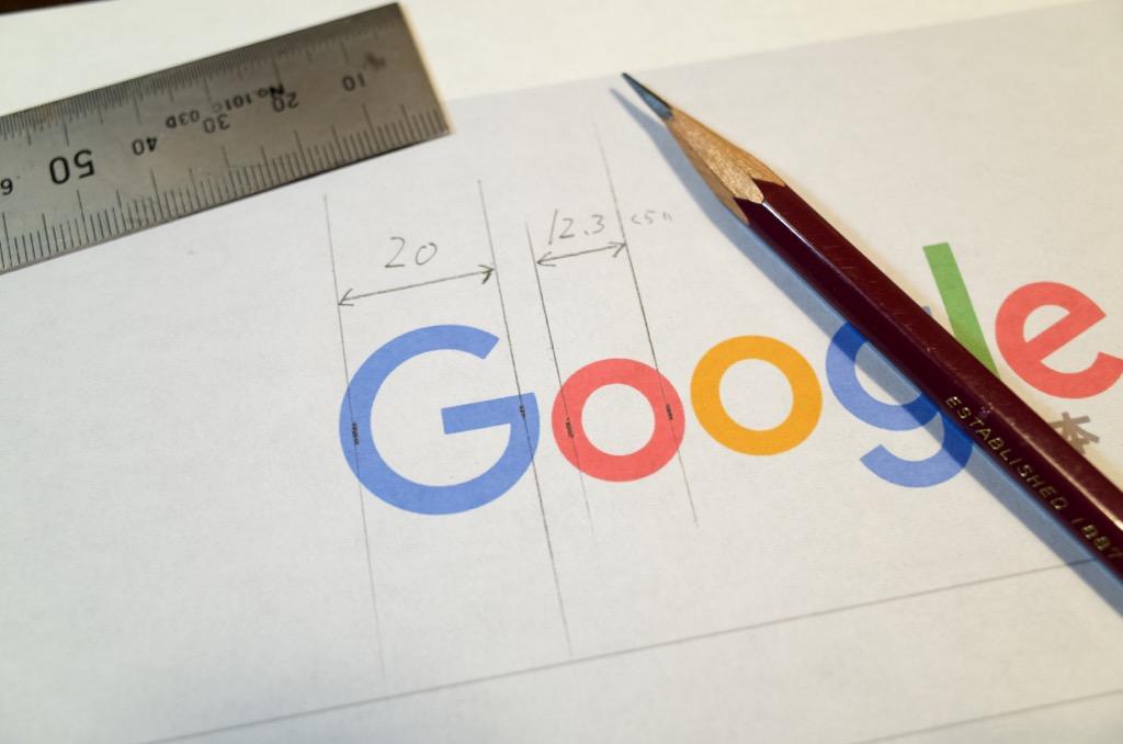 Google新ロゴの大きさを計測してみた
